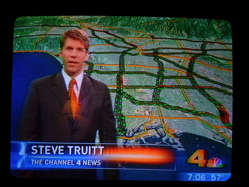 Traffic Report on KNBC-4 Los Angeles, CA.